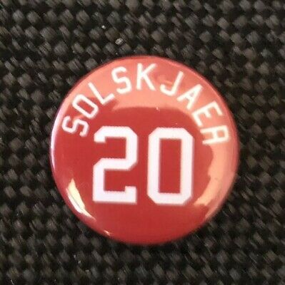"Solskjaer 20 Badge 25mm 1"" Pin Button Badge Manchester United Legebd FC Football"