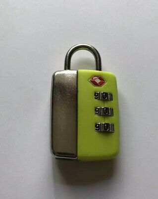92057ce434db TSA 005 3 Dial Combi Luggage Suitcase TravelBag Resettable Secure Lock-Green