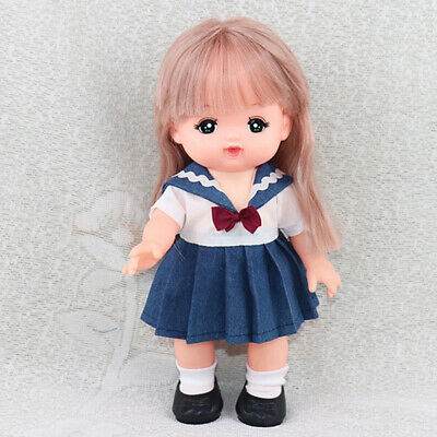 Lovely Reborn Doll Clothes Uniform Dress For Mellchan Dolls Party Clothing