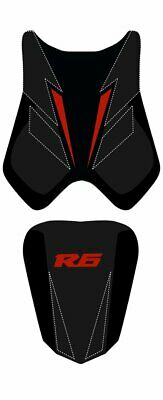 Bagster Seat Cover Black/Mat Black/Red Letters Yamaha YZF-R6 2008-2010