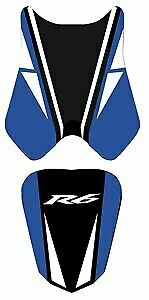 Bagster Seat Cover Baltic Blue/White Black Grey Letters Yamaha YZF-R6 2008-2010