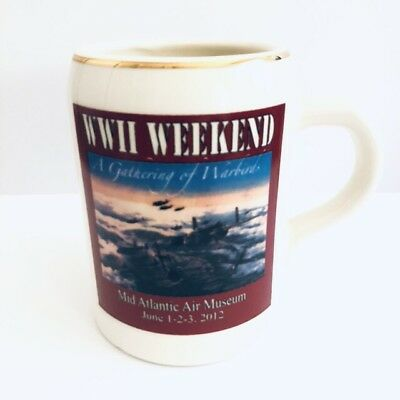 Mid Atlantic Air Museum WW World War II Weekend Handled Ceramic Tankard Mug