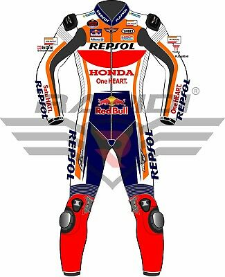 Honda Repsol Rapidi MotogpMotorbike Leather Racing Suit All Size Available