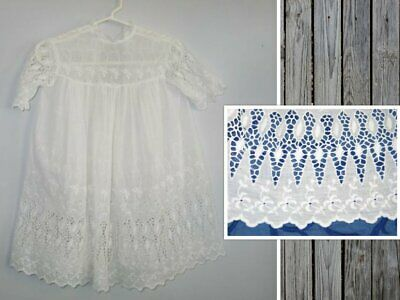 Exceptional Antique LACE Baby-Dress~Gown- Christening Baptismal Gown-Flower Girl