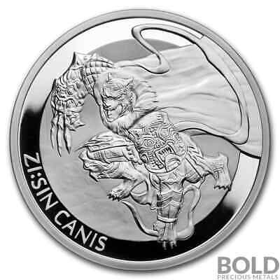 2018 South Korean Silver ZI:SIN Canis Proof - 1 oz