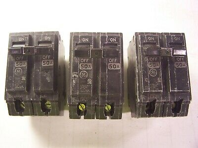 Ge General Electric 50 amp circuit breaker THQB2150 THQB22050
