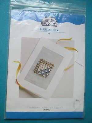 DMC Hardanger kit -- card