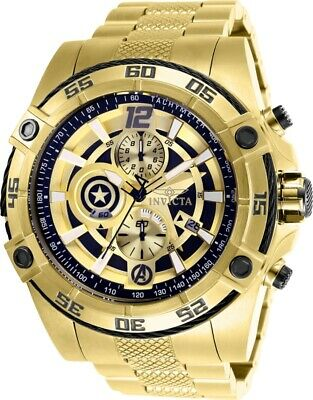 Invicta 26794 Marvel Men's 52mm Chronograph Gold-Tone Black/Gold Dial Watch