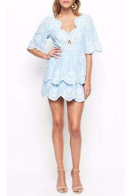 0bde035ee3  450 ALICE MCCALL Sky Blue Embroidered Crave You Jumpsuit 0 US EU 32 ...