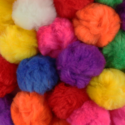 0.5, 0.75, 1, 1.5, 2 & 3 inch Acrylic Craft Pom Poms 18 Colors Available