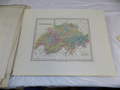 1843 Antique COLOR Map///SWITZERLAND, published by Tanner