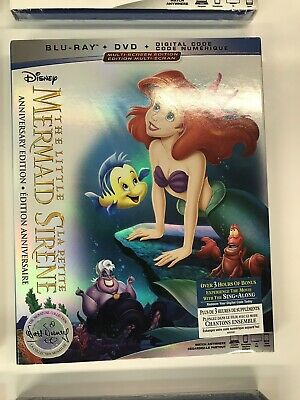 The Little Mermaid   Blu Ray + Dvd + Dig Copy  Brand New