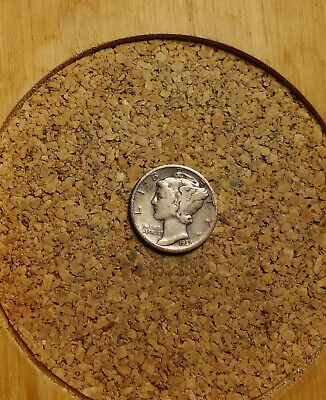 1937 P 10C Mercury Dime  90 % Silver US Coin  ME1812 Old (TUCK)  FREE SHIPPNG