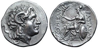 Kings of Thrace, Lysimachos AR Tetradrachm - NGC AU