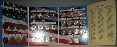 Complete Set of Presidential One Dollar Coins Folder 2007 to 2016