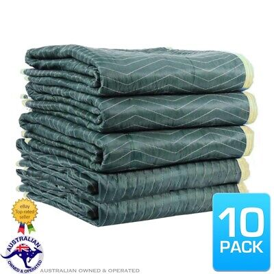 10 x Furniture Moving Padded Blankets 1.8mx3.0m Quilted Removalist Burlap Pads