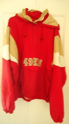 info for 295d9 4a4c3 SAN FRANCISCO 49ERS STARTER NFL Men's puffy 1/2 Zip Pullover Jacket
