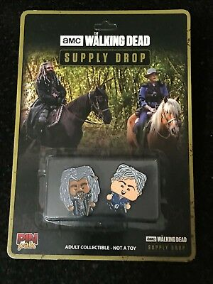 AMC The Walking Dead SUPPLY DROP Carol and King Ezekiel PIN PALZ Unpunched