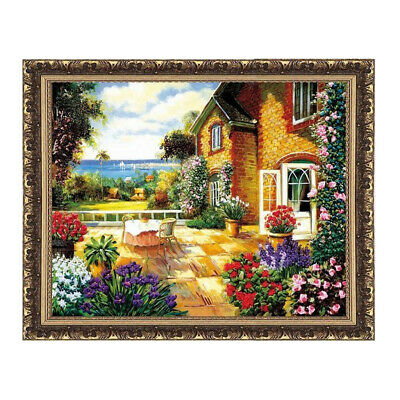 Funny Ribbon Embroidery KitThe Summer Flower Ribbon Cross Stitch Painting