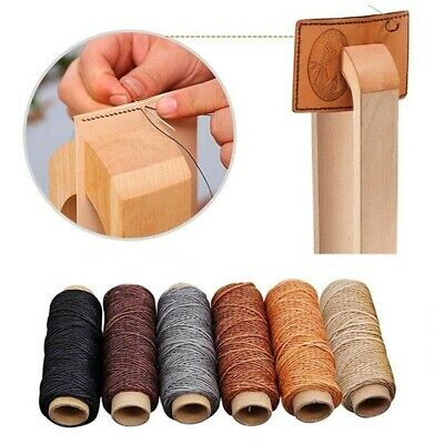 30m/roll 150D DIY Flat Hand Stitching Waxed Thread Sewing Line Leather Cord-