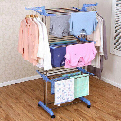 Clothes Airer 3 Tier Laundry Dryer Concertina Indoor Outdoor Patio
