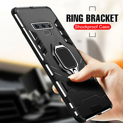 For Samsung Galaxy S10 Note 10 Plus Shockproof Armor Ring Magnetic Case Cover