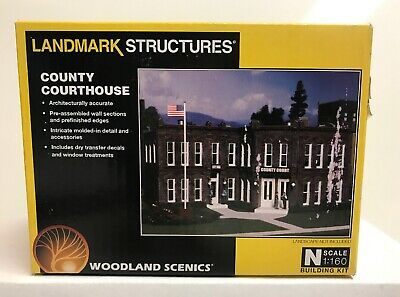 Woodland Scenics N Scale County Courthouse Building Kit #PF5209 , New