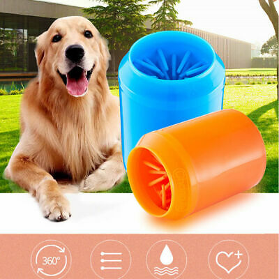 Portable Dog Paw Cleaner Pet Cleaning Brush Cup Dog Foot Clean Feet Wash Barrel
