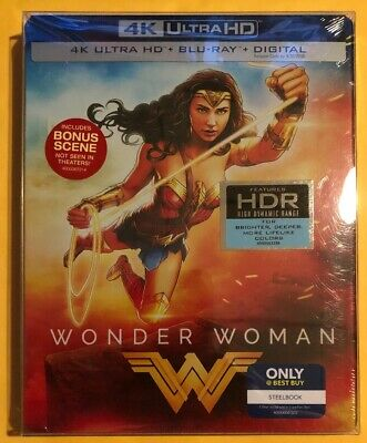 Wonder Woman 4k Ultra Hd Blu Ray Digital Steelbook