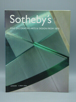 Sotheby's Auction Fine Decorative Arts & Design from 1870 London 6 May 2005