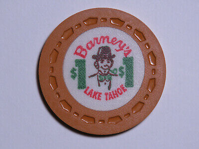 Barney's - Lake Tahoe Nevada - $1 Casino Chip - SCROWN
