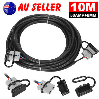 10M 50 Amp Anderson Plug Twin Core Automotive Cable Extension Lead Wire