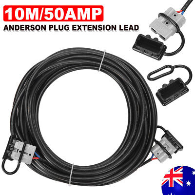 50 AMP ANDERSON PLUG 10M EXTENSION LEAD 6MM TWIN CORE AUTOMOTIVE CABLE WIRE yw