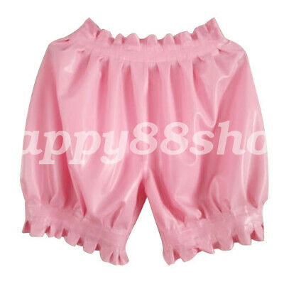 Latex Underwear 100% Rubber Boxer Shorts Briefs Gummi Color Pleated Size S-XXL