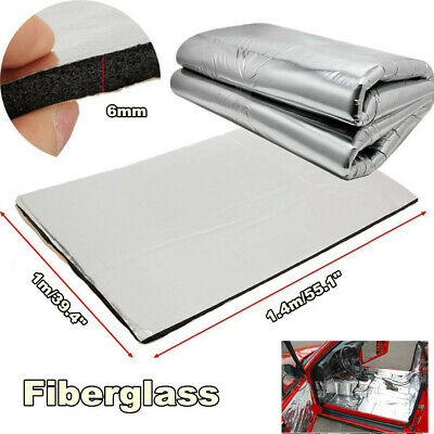 6mm Fiberglass Car Floor Hood Firewall Sound Proofing Insulation Heat Deadening