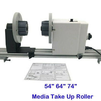 Enhanced 74'' Auto Media Take up Reel System Paper Pickup Roll for Roland Epson