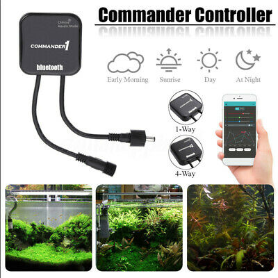 4-Way Chihiros bluetooth LED Light Dimmer APP Controller For Aquarium Tank Lamp