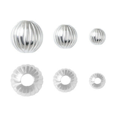 Sterling Silver Round Beads Spacers for Jewelry Making * Different Sizes