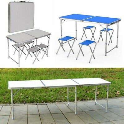 UK Folding Table Portable Travel Camping Garden Kitchen Dining Desk Small Large