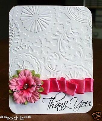 NEW✿ Floral Heart Fantasy Embossing Folder ✿ For Cuttlebug Sizzix ✿