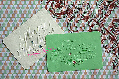 NEW ✿ Scroll Merry Christmas ✿ Phrase Embossing Folder ✿ Cuttlebug ✿