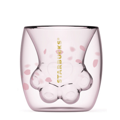Cherry Blossom 6oz Pink Cat Claw Double Glass Starbucks Limited Edition Cup AU