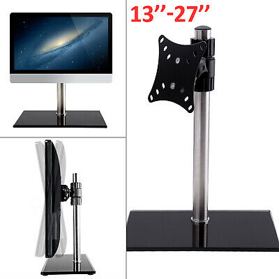 "Single Computer Monitors Arms Mount Desk Stand 13-27""Screen LED TV Bracket Mount"