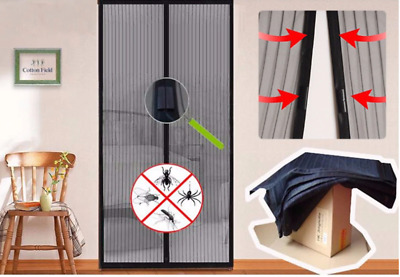 Magnetic Mesh Door Magic Curtain Snap Bug Fly  Insect Mosquito Screen Net Guard