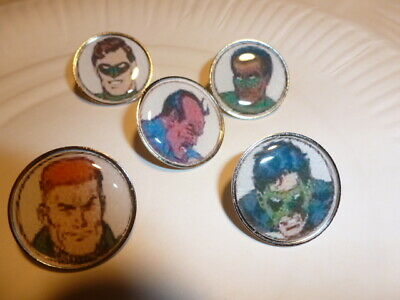 5 PINS DC COMICS SUPER HEROS THE GREEN LANTERN la lanterne verte
