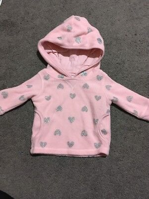 Baby Girls Long Sleeve Pink Hooded Top Size 000 EUC