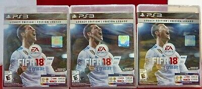 (Lot 3) New Electronic Arts Video Game Fifa 18 Legacy Edition PS3