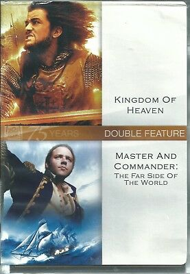 KINGDOM OF HEAVEN / MASTER AND COMMANDER Double Feature 2-Disc DVD Set Brand New