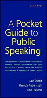 A Pocket Guide to Public Speaking Sixth Edition - Spiral Bound 2018