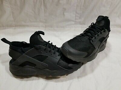 the latest 61419 8c4fd NIKE Men s AIR HUARACHE RUN Ultra TRIPLE BLACK 819685-002 RUNNING SHOES sz  10.5